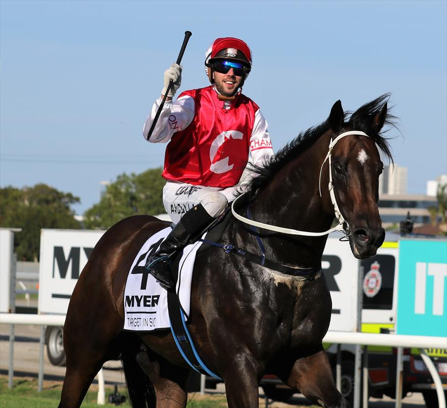Target after winning the $1M Magic Millions Sprint in January 2017